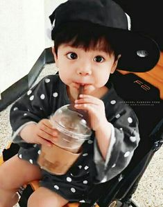 Find images and videos about cute, kpop and korean on We Heart It - the app to get lost in what you love. Cute Asian Babies, Korean Babies, Asian Kids, Cute Babies, Dad Baby, Cute Baby Boy, Cute Kids, Baby Kids, Beautiful Children