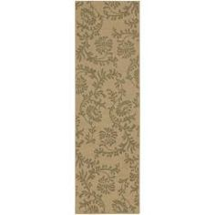 @Overstock - Made in Egypt, this rug features colors of khaki and dusky green. Its unique design makes this rug perfect for any home.http://www.overstock.com/Home-Garden/Palermo-Khaki-Floral-Indoor-Outdoor-Rug-23-x-79/6986237/product.html?CID=214117 HUF              12239.00