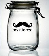My Stache Mustache Moustache Vinyl Decal Sticker - DIY Do It Yourself - OH I AM SO DOING THIS!!