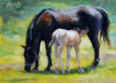 Art by Mary Rochelle Burnham: Milk Break