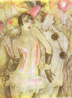 Jeanne Mammen, Maskenscherz in der Silhouette.Um 1929
