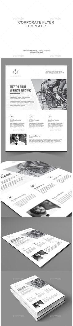 ▥ [Get Free]▭ Minimalistic Corporate Flyer Branding Design Business Corporate Design Flyer Graphic Web Design, Page Layout Design, Flyer Design, Print Design, Corporate Flyer, Corporate Design, Business Design, Collateral Design, Branding Design
