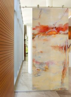 These cutting edge doors will energize any public or private contemporary setting. Sargam Griffin contemporary ArtDoors are created through an innovative technique which translates her original oil paintings onto the ArtDoor, initially an industrial door panel.