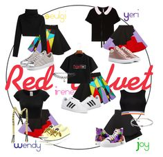 """""""Red Velvet outfit performance"""" by arsndr on Polyvore featuring Max&Co., FAUSTO PUGLISI, Sperry, Valentino, Boohoo, Chanel, Jil Sander, adidas Originals, ASOS and Kenneth Jay Lane"""