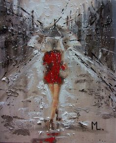 "Buy "" SPRING GIRL ... "" original painting CITY palette knife, Oil painting by Monika Luniak on Artfinder. Discover thousands of other original paintings, prints, sculptures and photography from independent artists."