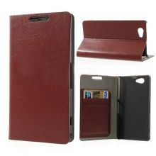 Capa Sony Xperia Z1 Compact Flip Stand Wallet Marrom R$37,60