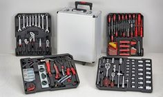or Tool Case Set from With Free Delivery (Up to Off) Electrical Tester, Electrical Tape, Wall Plug, Wall Hooks, Claw Hammer, Universal Joint, Adjustable Wrench, Staple Gun, Hex Key