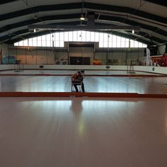 Lonely on the ice rink : 1 hour to go and counting - 2014 Tournament for 7-8 years old players, Lodzki Klub Hokejowy, Lodz ,Poland.