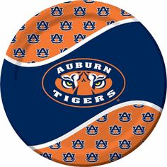 Auburn University Tigers 9-inch Luncheon and Dinner Paper Plate College graduation, picnic, tailgate, or Gameday Party Supplies $4.00