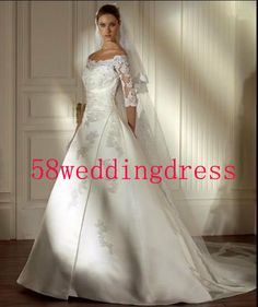 2014 White Ivory Sleeveless Taffeta Wedding by 58weddingdress, $209.00