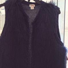 NWT navy blue fur vest size medium Bundle and save Jackets & Coats Vests