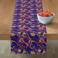 ASTROLOGY ZODIAC MARBLE 7 purple gold on Minorca by paysmage | Roostery Home Decor Mitered Corners, Dinner Napkins, Astrology Zodiac, Purple Gold, Gold Leaf, Table Runners, Color Splash, Spoonflower, Craft Projects