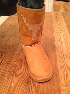 University of Texas Longhorn Crystal Boots