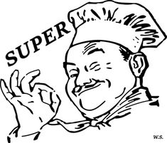 Chefmaster and Little Chef Coloring Pages is a fun coloring page for kids who love cooking and baking. Filled with more than 10 large print out, this page Kitchen Cheat Sheets, Arte Punk, Food Coloring Pages, Printable Coloring, Blackstone Griddle, Chili Cook Off, Hamburger Patties, Little Chef, Fodmap Recipes
