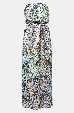 Topshop Animal Print Maxi Dress
