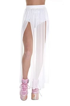 301e851352f Women's Outfit Inspiration for White Wednesday at Burning Man — Dusty Depot  Rave Bodysuit, Long