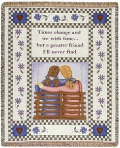 Personalized Friends Country Inspirational Tapestry Throw