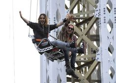 Jared Leto Enjoys A Ride On A Giant Amusement Park Swing