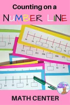 Students fill in the missing numbers on these 60 number line strips that deal with counting forwards and backwards by 1's, 2's, 5's, and 10's. Grade 1, 2, and 3 students will get practice skip counting at a this hands-on math center.