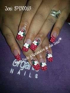Uñas decoracion heiluz Cute Nails, My Nails, Nail Tip Designs, French Tip Nails, Flower Nails, Stiletto Nails, Nail Tips, Manicure, Nail Art
