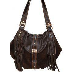 Frasque model leather bag LANCEL Brown