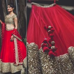 Red and Golden umbrella styled lehenga choli  Product Info : Raw silk semi stitch Lengha up to waist size 40 Length 42 Stitching style - umbrella Blouse unstitched fabric pure nett with zari and sequence Dupatta - pure nett with sequence work with border Colors can be changed Made to order - one week  Sale Price : 3990 INR Only ! #Booknow  CASH ON DELIVERY Available In India ! World Wide Shipping ! ✈ For orders / enquiry  WhatsApp @ +91-9054562754 Or Inbox Us