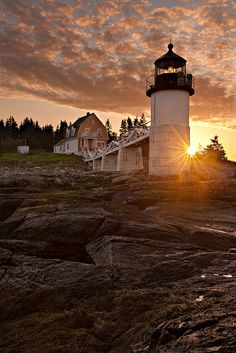 Marshall Point Sunrise: Port Clyde, ME by Mike Blanchette, via Flickr