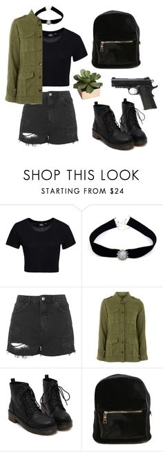 """""""Mathilda - Léon, the professional"""" by am-saraiva ❤ liked on Polyvore featuring Dr. Denim, Sirius, Topshop, CB2 and Caliber"""