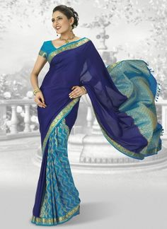 """""""Upto 50% Offers On Sarees"""".#Beautiful new design #Pure Silk sarees with rich intricate #hand #embroidery work in floral and traditional motifs all over body. Creepers and pastel motifs on pallu and border. Contrast border with rich designer pallu. Embellished with #stone work. #Kanchipuram #Silk #Sarees #CottonSarees #IndianFashion"""