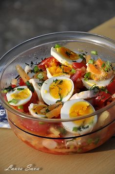 Cold Vegetable Salads, Romanian Food, Food And Drink, Healthy Eating, Cooking Recipes, Eggs, Dinner, Vegetables, Breakfast