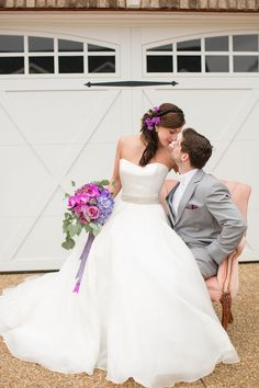 simple strapless fairytale wedding dress with crystal belt | Katelyn James Photography
