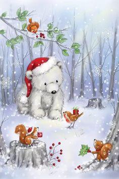 Illustration Inspiration, Illustration Noel, Christmas Illustration, Christmas Drawing, Christmas Paintings, Christmas Art, Canvas Artwork, Canvas Art Prints, Canvas Frame