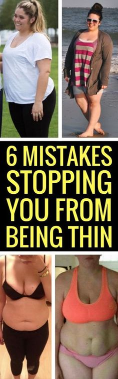 6 bad mistakes stopping you from losing weight.