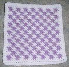 ROW COUNT CHECKERED AFGHAN SQUARE Crochet Pattern - Free Crochet Pattern Courtesy of Crochetnmore.com