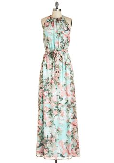 Nature's Song Dress. Like a whisper in the wind, you whoosh by in the beauty of this feminine maxi dress. Would be an easy DIY pillowcase dress.