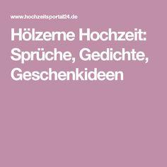 Hölzerne Hochzeit: Sprüche, Gedichte, Geschenkideen