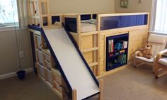 jm-allcreated-IKEA-hack-bunk-bed-slide-secret-room-DIY-1
