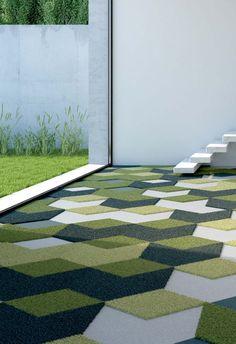 Darts diamonds By vorwerk teppichwerke, carpeting / rug design Werner Aisslinger, textiles Collection