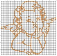 Filet Crochet, Baby Knitting Patterns, Diy Projects To Try, Bead Art, Wings, Cross Stitch, Christmas Ornaments, Crochet Angels, Cross Stitch Designs