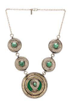 Vanessa Mooney Malthus Statement Necklace in Silver