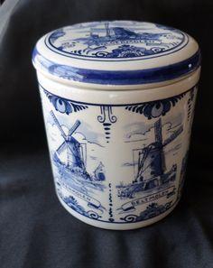 Delft Blue...probably a candy jar.