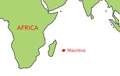 Mauritius lies at East from Africa