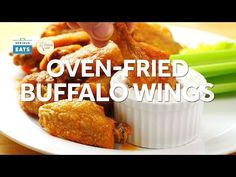 The Best Oven-Fried Buffalo Wings - YouTube