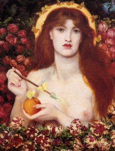 Image and description of 'Venus Verticordia' from the exhibition Dante Gabriel Rossetti held at the Walker Art Gallery in Dante Gabriel Rossetti, Renaissance Kunst, Renaissance Paintings, William Turner, Elizabeth Siddal, Tumblr Tattoo, The Birth Of Venus, Art Fund, Most Famous Paintings