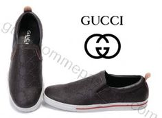 Chaussures Gucci Homme Pas Cher En Marrón Foncé