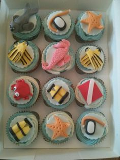 Scuba Diving Cupcakes by Kake & Co.