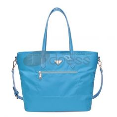 Lake blue dual-use waterproof material handbag