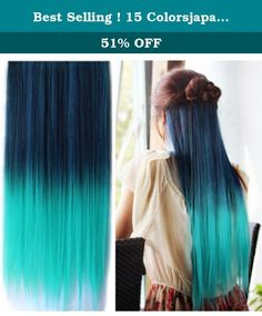 Best Selling ! 15 Colorsjapan High Temperature Heat Resistant Synthetic Straight Multi Color Extension Hair Wig Woman's 65cm 25inch 105g Good Quality Human Made Hair (dark blue-Light Green). 1---The same price as others , better quality we provide The same quality as others, lower price we provide 2---Being able to design your hair style according to your needs. 3---Material---high quality synthetic & 100% Japanese high-temperature resistance fibers.