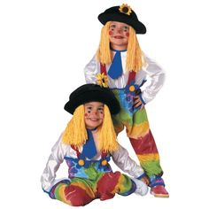 Boys Colorful Clown Yarn Halloween Costume for Toddlers