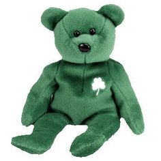 04960022373 Erin the Irish Bear Ty Beanie Baby by TY Warner Disney     Be
